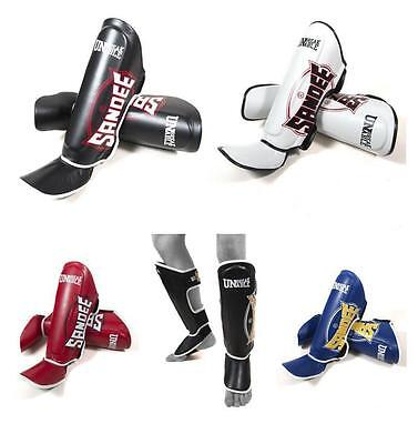 Sandee Shin Guards Pads Thai Boxing Shinguards CoolTec Adult Sparring Kickboxing