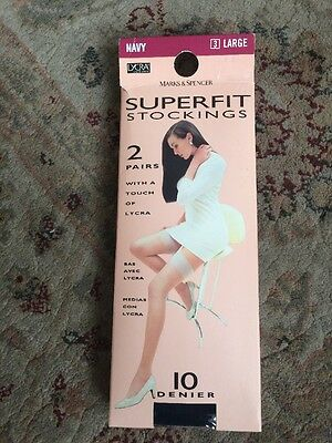 2 Pairs Of Superfit Stockings Size Large