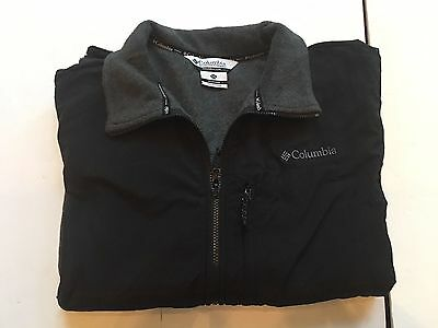 EUC Men's Columbia Full Zip Fleece Jacket, Black/Gray, Mens XXL