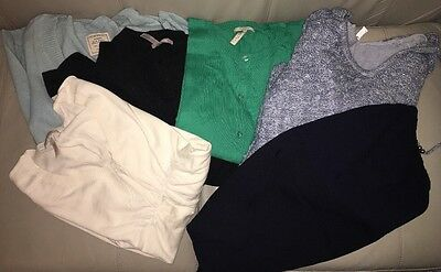 Maternity Clothes Lot--sweaters And Skirt--large