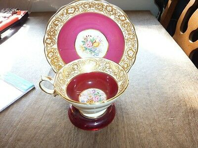 Hammersly Bone China Cup and Saucer with Display Stand NICE!!  Free shipping!