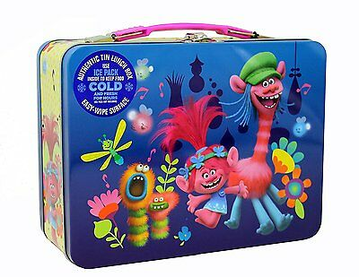 Trolls  XL Carry All Large Tin Lunch Box