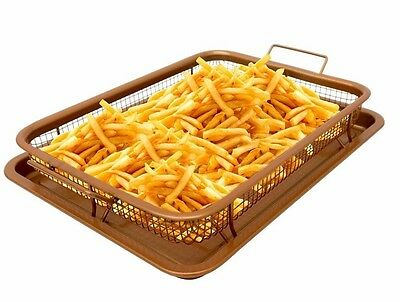Gotham Steel Copper Crisper Tray - AIR FRY IN YOUR OVEN - As Seen on TV - NEW!