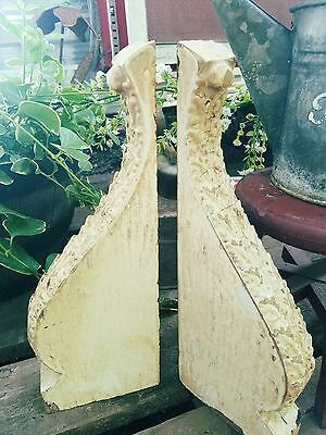 Architectural Salvage Wood Corbels, Victorian Corbels, Mantel Brackets, Wall