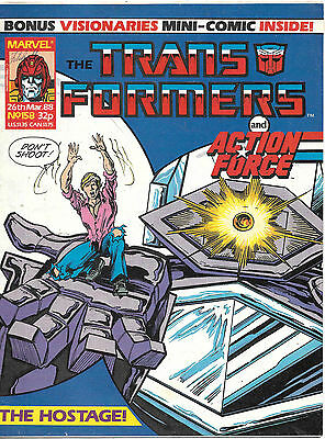 Transformers #158 (Marvel UK,  full colour) high grade - with Visionaries insert