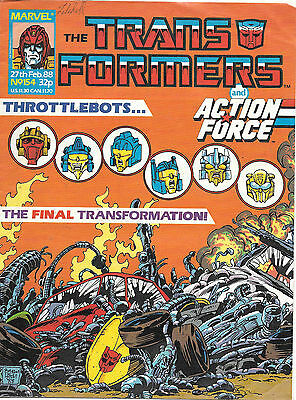 Transformers #154 (Marvel UK,  full colour throughout 28 pgs) mid-grade