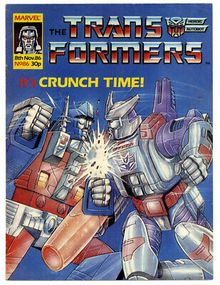 Transformers #153 (Marvel UK, full colour) high grade - Action Force merge issue