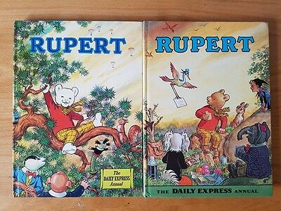 Rupert bear annuals 1972 1973. Excellent condition