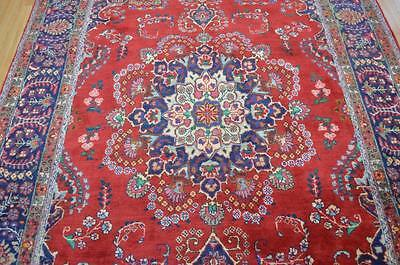 6'4x9'7 Gorgeous Authentic S Antique Persian Sabzevar Hand Knotted Wool Area Rug