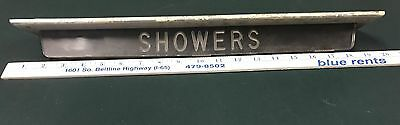 VINTAGE RARE - SHOWER sign mounted from overhead from US Flag ship