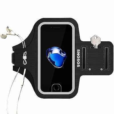 iPhone 7 Armband,SOSONS Water Resistant Sports Gym Armband Case for iphone 7/6s
