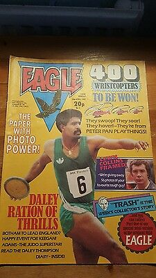 EAGLE COMIC 10th April 1982 DALEY THOMPSON, LEWIS COLLINS OF THE PROFESSIONALS