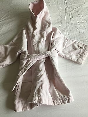 Girls The Little White Company Dressing Gown/bath Robe Age 9-24m