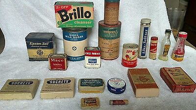 Antique and vintage lot of household products