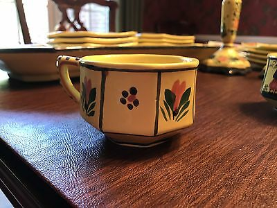 HB Henriot Quimper Soleil Yellow Coffee Cup