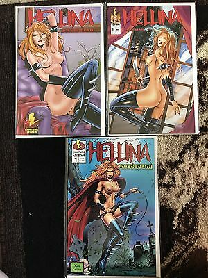 Hellina Kiss Of Death Set Of 3 Comic Lot Nude Edition