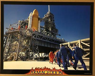 crew going to the space shuttle launch pad Armageddon 1998 lobby card 1127