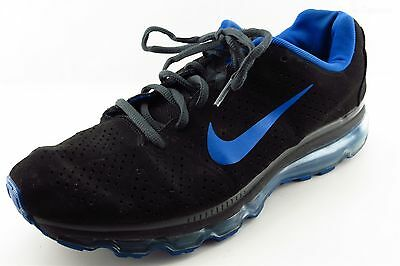 Nike plus Air Max Athletic Sneakers Black Synthetic Men Shoes Size 11 Medium