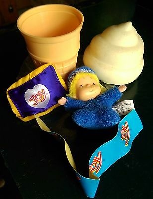 Vintage Joy Ice Cream Promotional Advertising Doll and Ice Cream Cone that Opens