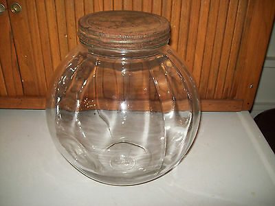 Antique General Store Counter Display Large Round Candy Cracker Pickle Jar