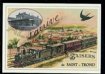 SAINT  TROND --  train  ...  souvenir creation moderne serie numerotee