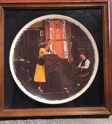 """Norman Rockwell """"The Marriage License"""" Plate : Gorham Fine China Limited Edition"""