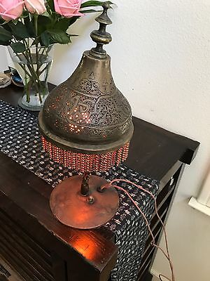 Old Brass Arabian/Moroccan Style Lamp