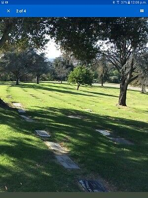2 side x side cemetery plots Rose Hills Ca. Bought in1955 beautiful soldout area
