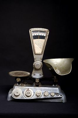 Vintage Exact Weight Scale with Weights