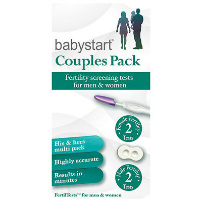 NEW Babystart Couples 2 Tests Each - 2 Pack