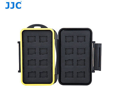 JJC Tough Water-Resistant Anti-shock Memory Card Case fits 16 x  Micro SD cards