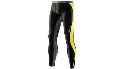 Skins DNAmic Youth Long Tights with Advanced Compression Small - Black/Citron