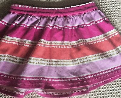 Gymboree Toddlers girls size 4T pink skirt striped 100% Cotton