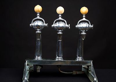 3 Head Soda Jerk Fountain Dispenser with Marble Knobs - Rare