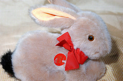 Teddy Hermann Bunny made of Velveteen and Synthetic plush, stuffed toy