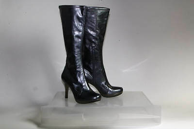 Gianni Bini Black Faux Leather Mid-Calf Boots Size 10M