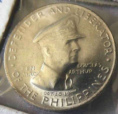 1947-S General MacArther Philippines Silver 50 Centavos Defender & Liberator
