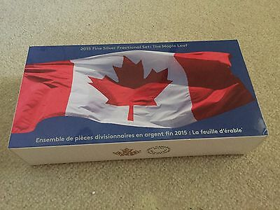 2015 Canada Fractional Maple Leaf Silver set (5 coins)