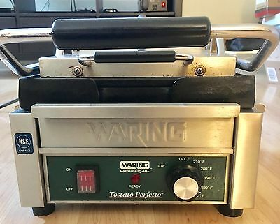 Waring Commercial WFG150 Compact Italian-Style Flat Grill, 120-V