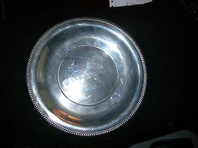"183 GRAMS RARE  LUNT Sterling Silver, Plate #372-D 9 1/8"" WIDE"