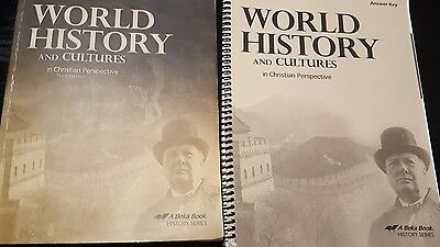 A Beka world history and cultures with an answer key. Third Edition.