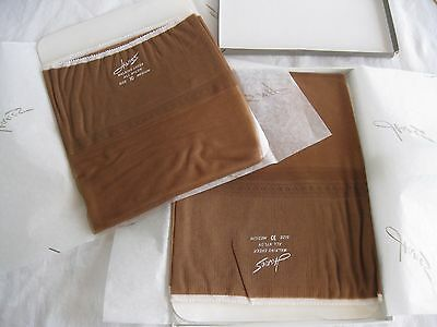 TWO pairs vintage Hanes Walking Sheer 530M nylons size 10 NIB and two used pairs