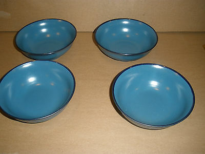 Noritake Folkstone Blue Twilight# 8512  Set Of Four Small Bowls Mint Condition