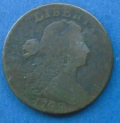 1798 Draped Bust Large Cent, Second Hair S-174, Very Good details