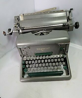 Vintage Rare Imperial 66 Typewriter Desk Steampunk Industrial Read