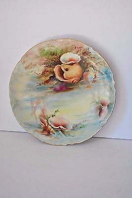 Antique Haviland France Sea Shell Ocean Hand Painted Plate