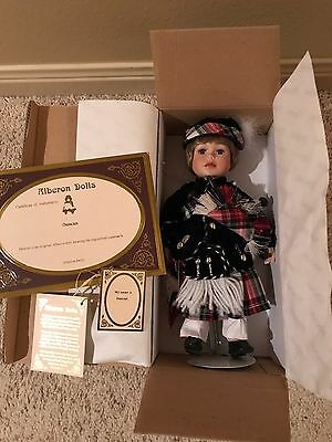 """Alberon Porcelain Doll Scotland Duncan 11"""" Tall With Box And Papers"""