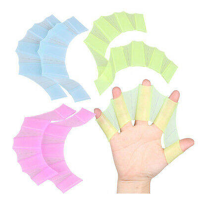 Silicone Swim Gear Fins Hand Webbed Flippers Training Glove for Swimming M fins