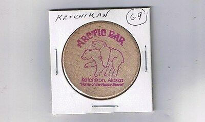 Alaska Wooden Nickel Token - Ketchikan - Arctic Bar