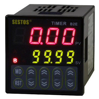 Sestos Digital Twin timer Relay Time Delay 110v count second B2E-2R-220